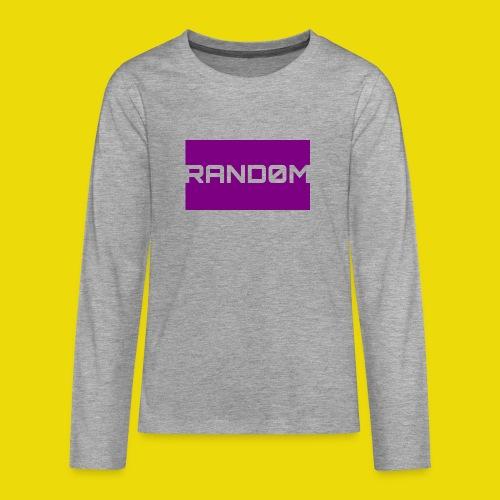 Random Logo - Teenagers' Premium Longsleeve Shirt