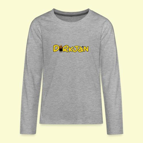 DIRKJAN Logo - Teenager Premium shirt met lange mouwen