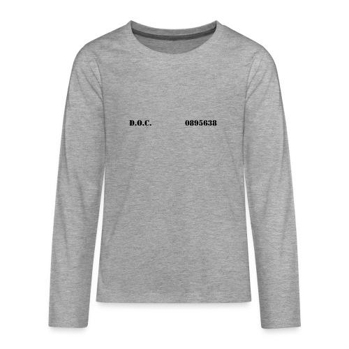 Department of Corrections (D.O.C.) 2 front - Teenager Premium Langarmshirt