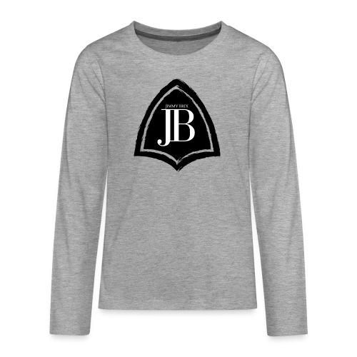 Original Jimmy BriX Logo - NEW LINE BLACK EDITION! - Teenager Premium Langarmshirt