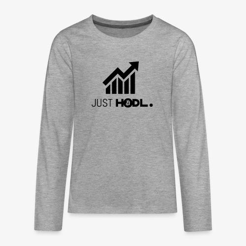 HODL-btc-just-black - Teenagers' Premium Longsleeve Shirt
