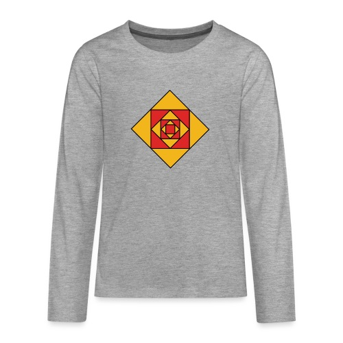 Prismes carrés - T-shirt manches longues Premium Ado