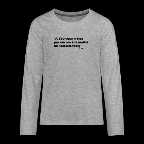 380 noir - T-shirt manches longues Premium Ado