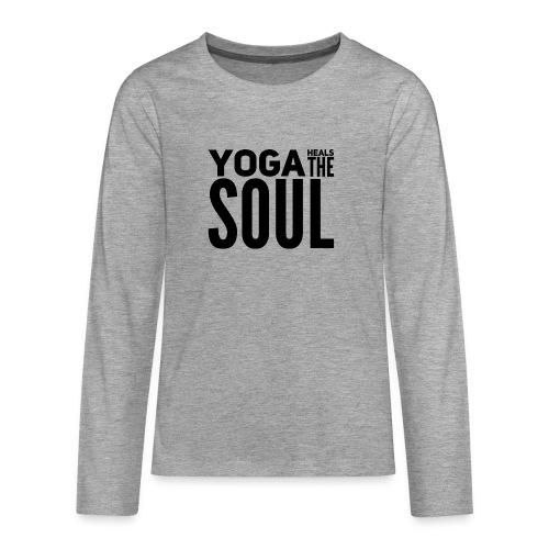 yogalover - Teenager Premium shirt met lange mouwen
