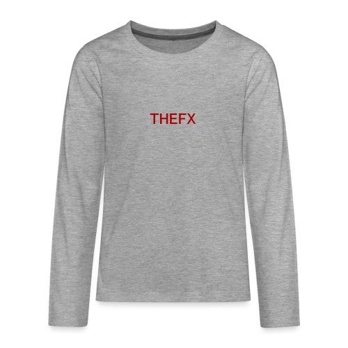 TheFX [FXiles Merch & Clothing brand] - Premium langermet T-skjorte for tenåringer