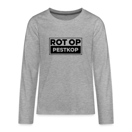 Rot Op Pestkop - Block Black - Teenager Premium shirt met lange mouwen