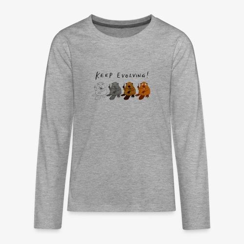 Keep Evolving! - Teenager Premium Langarmshirt