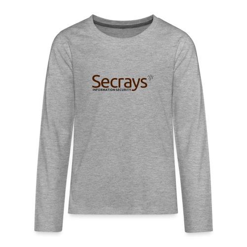 Secrays vektori logo - Teinien premium pitkähihainen t-paita