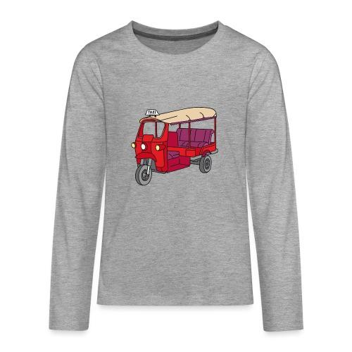 Rote Autorikscha, Tuk-tuk - Teenager Premium Langarmshirt