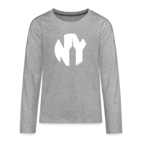 Logo French Yorker blanc - T-shirt manches longues Premium Ado