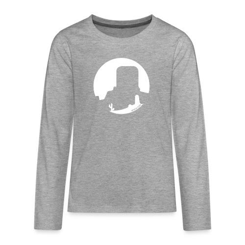 Logo French Wester blanc - T-shirt manches longues Premium Ado