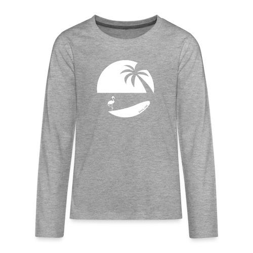 Logo French Floridian blanc - T-shirt manches longues Premium Ado