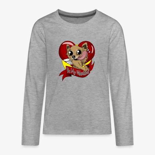 Engla Be my valentine? - Långärmad premium T-shirt tonåring