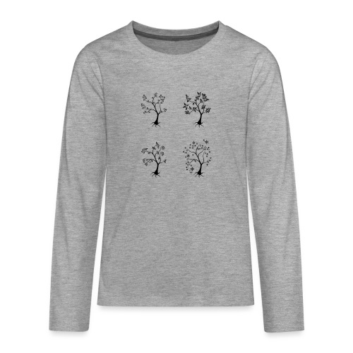 Vuodenajat - Teinien premium pitkähihainen t-paita