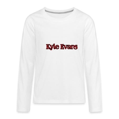 KYLE EVANS TEXT T-SHIRT - Teenagers' Premium Longsleeve Shirt