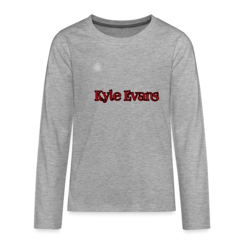 KYLE EVANS TEXT T-SHIRT - Teenagers' Premium Longsleeve Shirt