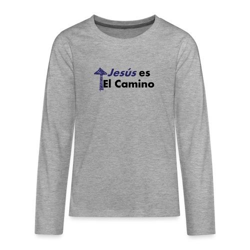 jesus el camino - Camiseta de manga larga premium adolescente