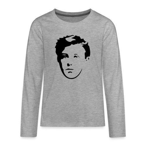 Arthur Rimbaud visage - T-shirt manches longues Premium Ado