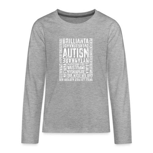 Autism - ser världen utan att tolka. - Långärmad premium T-shirt tonåring