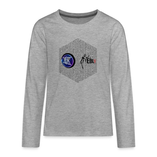 disen o dos canales cubo binario logos delante - Teenagers' Premium Longsleeve Shirt