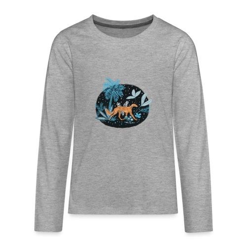 Saluki im Tropenwald - Teenager Premium Langarmshirt
