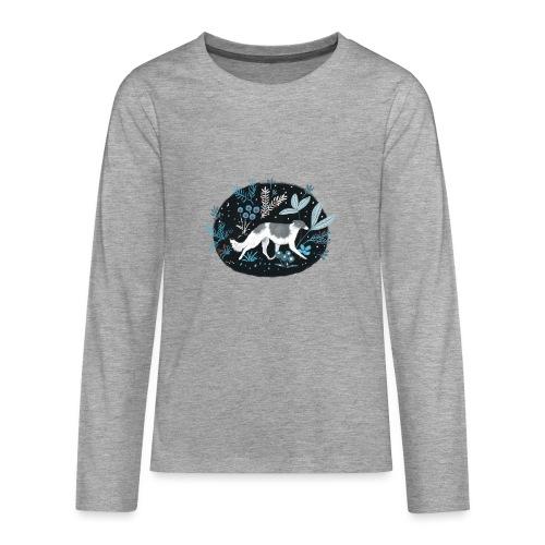 Barsoi im Mitternachtswald - Teenager Premium Langarmshirt