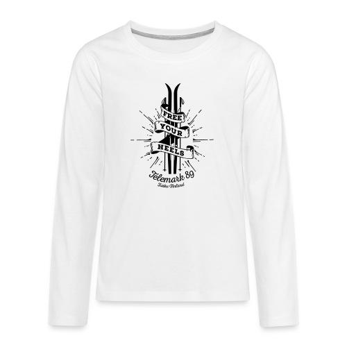 FreeYourHeels_merge - Teinien premium pitkähihainen t-paita