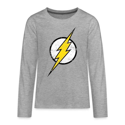 DC Comics Justice League Flash Logo - Teenager Premium Langarmshirt