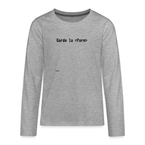 Design_dev_blague - T-shirt manches longues Premium Ado