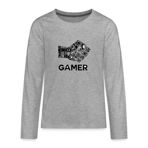 POING GAMEUR - T-shirt manches longues Premium Ado