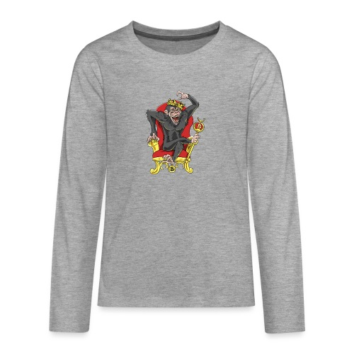 Bitcoin Monkey King - Beta Edition - Teenager Premium Langarmshirt