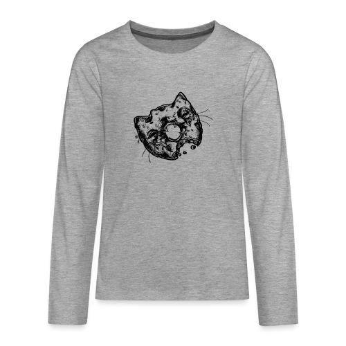 Dona Gato Negro - Camiseta de manga larga premium adolescente