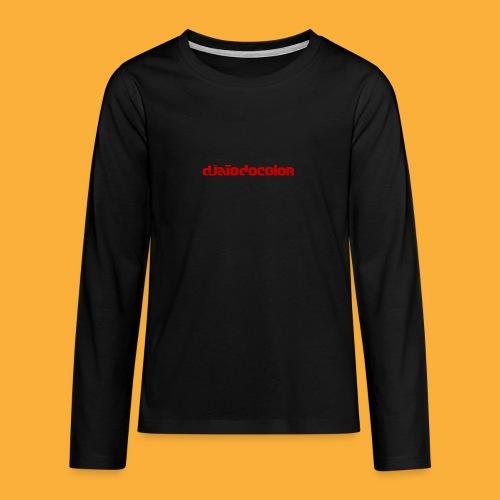 DJATODOCOLOR LOGO ROJO - Camiseta de manga larga premium adolescente