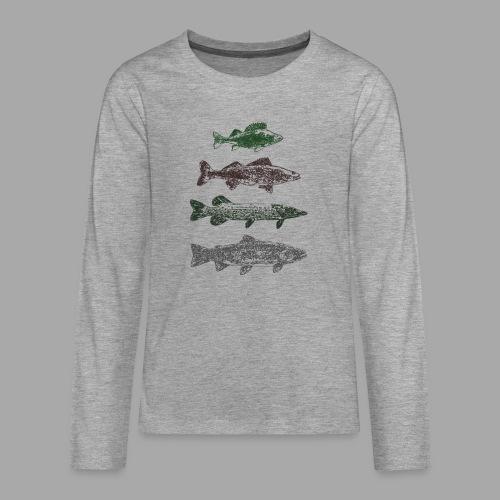 Lake - Teinien premium pitkähihainen t-paita
