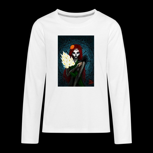 Death and lillies - Teenagers' Premium Longsleeve Shirt