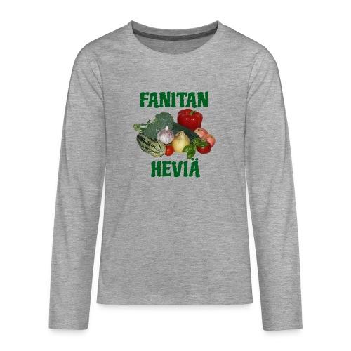 Fanitan heviä - Teinien premium pitkähihainen t-paita