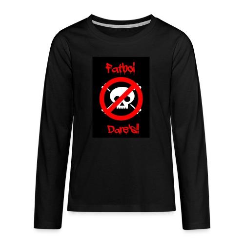 Fatboi Dares's logo - Teenagers' Premium Longsleeve Shirt