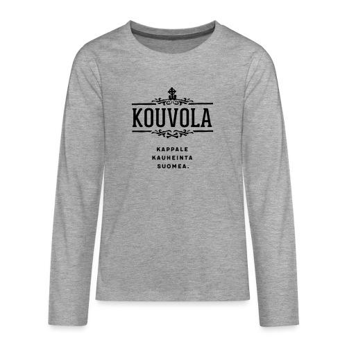 Kouvola - Kappale kauheinta Suomea. - Teinien premium pitkähihainen t-paita