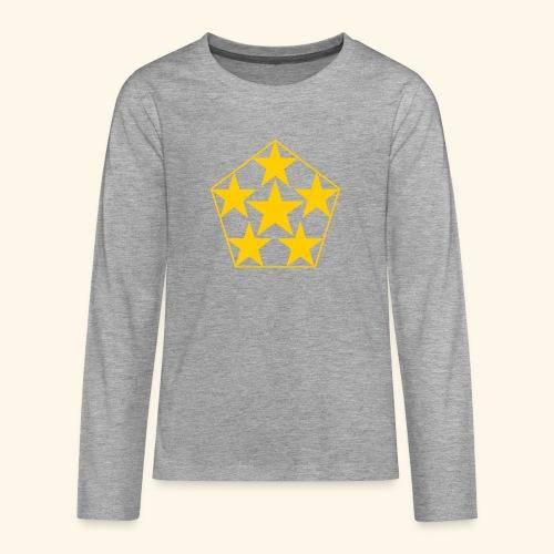 5 STAR gelb - Teenager Premium Langarmshirt
