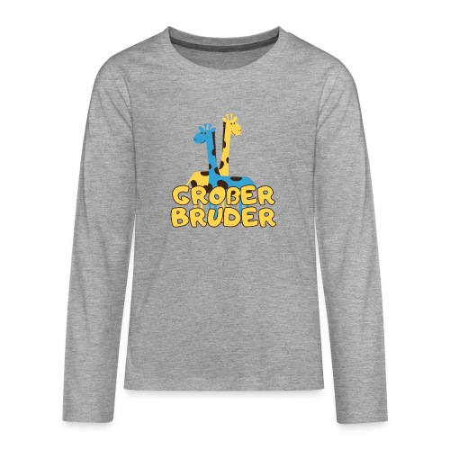 großer Bruder Baby Babyparty Shirt - Teenager Premium Langarmshirt