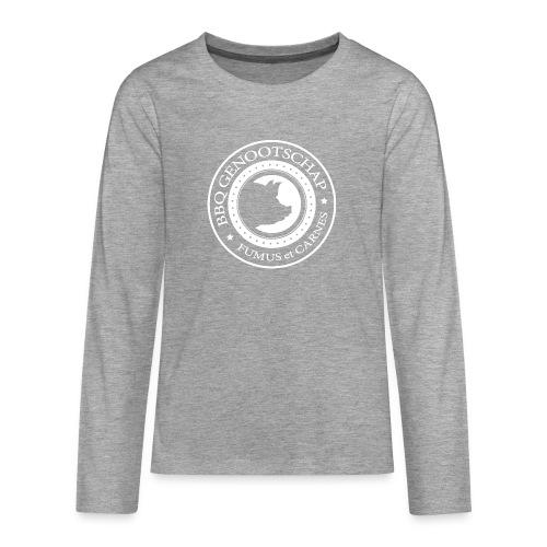 BBQ Genootschap logo shirt (voorkant) - Teenager Premium shirt met lange mouwen
