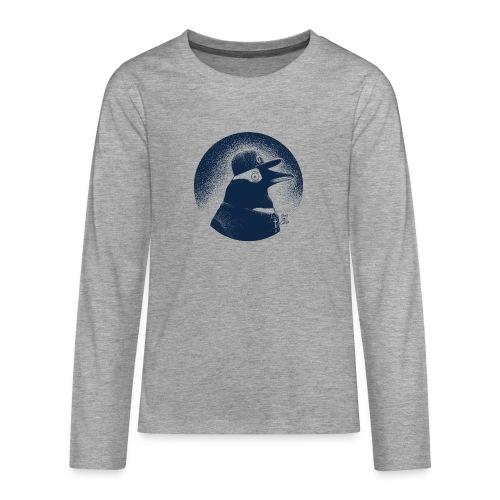 Pinguin dressed in black - Teenagers' Premium Longsleeve Shirt
