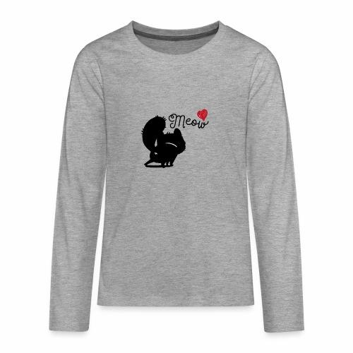 gatto meow - Maglietta Premium a manica lunga per teenager