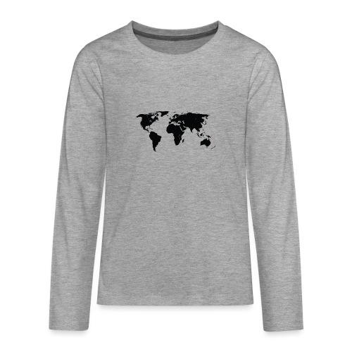 World - Teenager premium T-shirt med lange ærmer