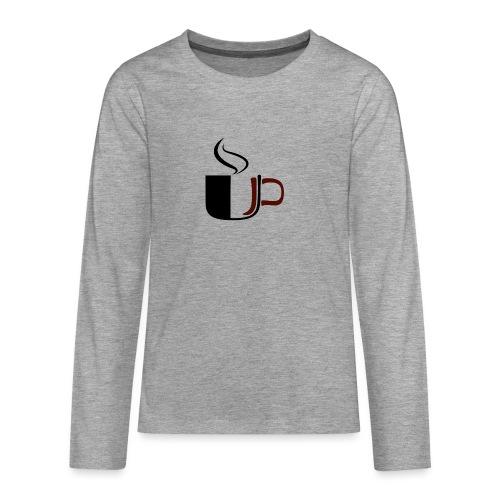 JU Kahvikuppi logo - Teinien premium pitkähihainen t-paita