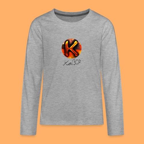 Kai_307 - Profilbild + Unterschrift Schwarz - Teenager Premium Langarmshirt