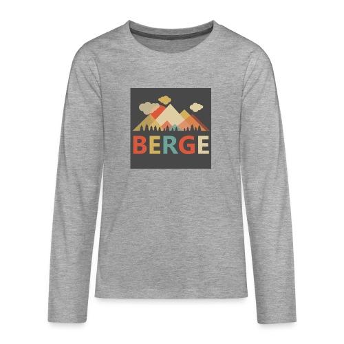 Berge bei Sonnenuntergang - Teenager Premium Langarmshirt