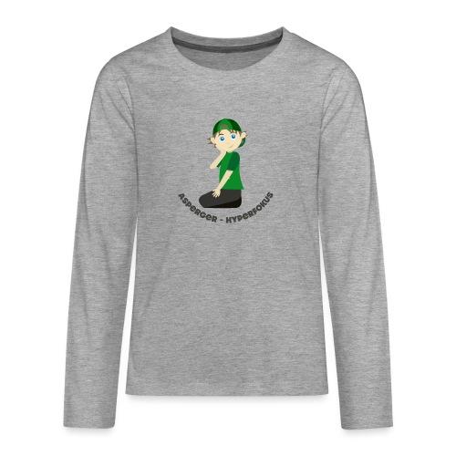 HyperShirt 2 Asperger - Hyperfokus - Långärmad premium T-shirt tonåring