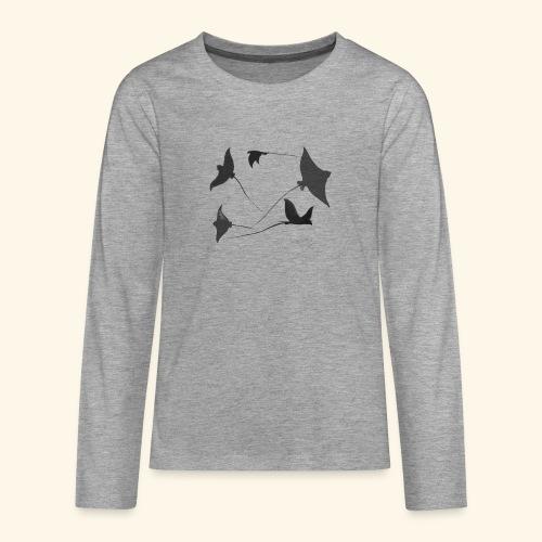 Rochen 2 - Teenager Premium Langarmshirt
