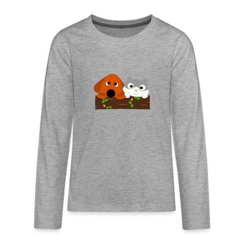 Hund & Katz - Teenager Premium Langarmshirt